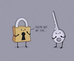 key, funny, and type image
