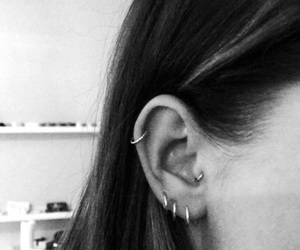 ear, girl, and helix image