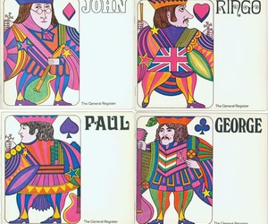 the beatles, beatles, and cards image