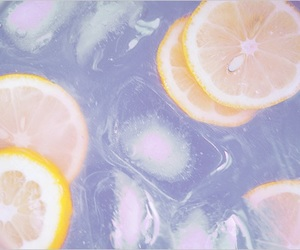 lemon, pink, and drink image