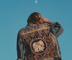 fashion, boho, and jacket image