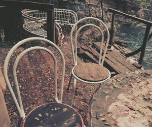 chairs, mobile, and nature image
