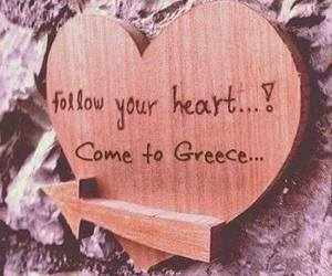 heart, Greece, and summer image