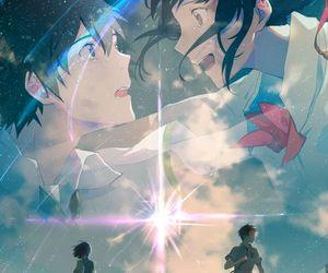 kimi no na wa, anime, and your name image