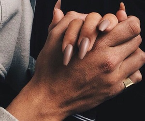 nails, couple, and goals image