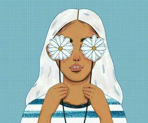 art, illustration, and flowers image