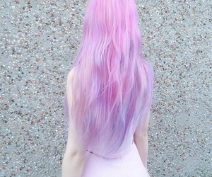 cheveux, girl, and pink image