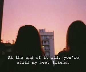 friends, quote, and sunset image