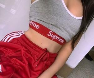 supreme, red, and fashion image