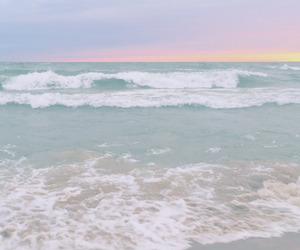 pastel, ocean, and beach image