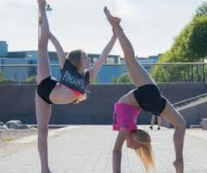 duo, gym, and acrostunt image