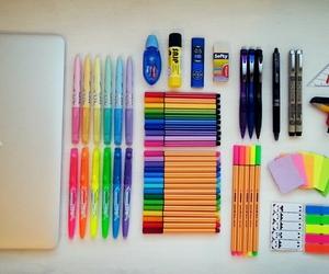 school, apple, and study image