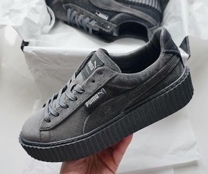 puma, grey, and shoes image