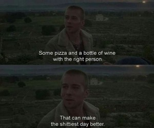 quote, love, and pizza image