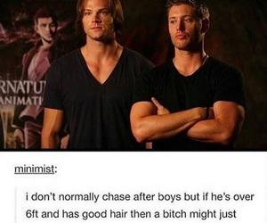 handsome, jared padalecki, and Jensen Ackles image