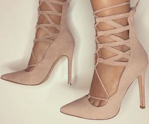 heels, fashion, and Nude image