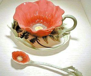 china, tea, and tea pot image