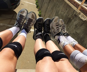 legs, nike, and shoes image