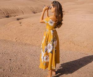 dress, desert, and yellow image
