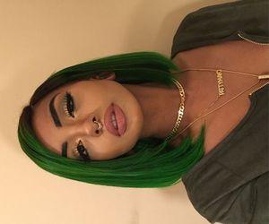 girl, green, and hair image