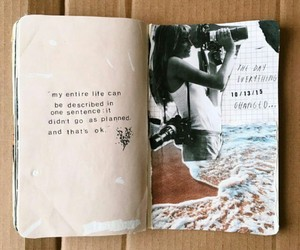 book, journal, and quotes image