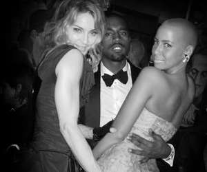black and white, kanye, and amber-rose image