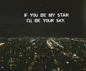stars, sky, and love image