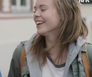 girl, happy, and skam image