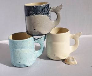 blue whale, coffee mugs, and etsy image