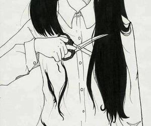 hair, anime, and cut image