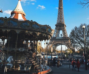 carousel, city, and paris image