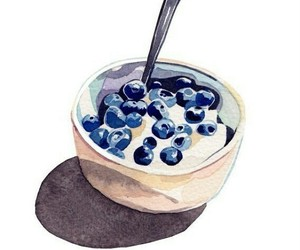 art, food, and blueberry image