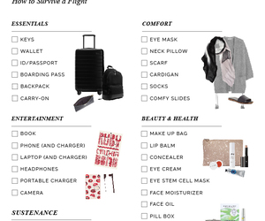 airplane, backpack, and beauty image