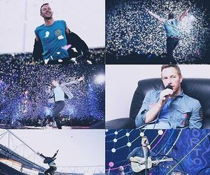 blue, Chris Martin, and coldplay image