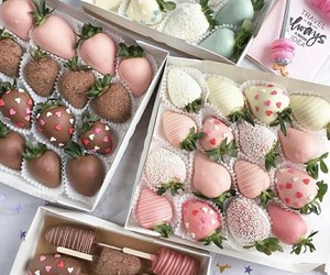 food, strawberry, and pink image