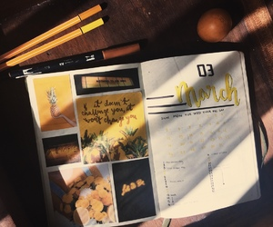 art, college, and journal image
