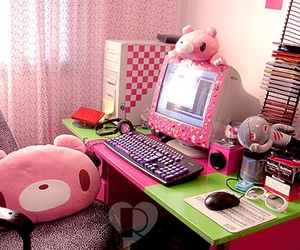 pink, room, and kawaii image