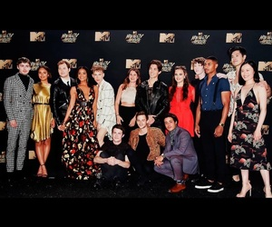 mtv movie awards, dylan minnette, and miles heizer image