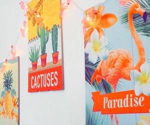 cactus, flamingo, and tropical image