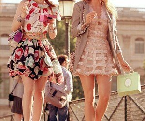 best friends, leighton meester, and shopping image