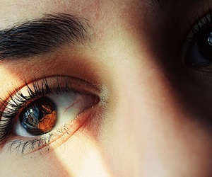brown eyes, deep, and highlight image