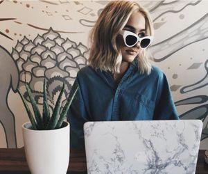 girl, fashion, and plants image