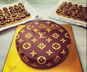 cake, chocolates, and louis vouitton image