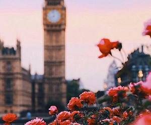 london, flowers, and travel image