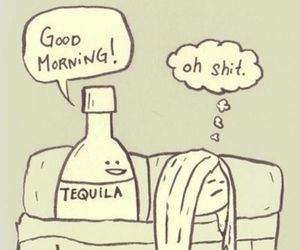 tequila, hangover, and morning image