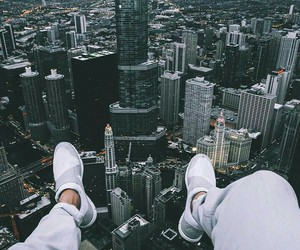 city, building, and shoes image