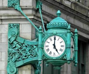clock, blue, and time image