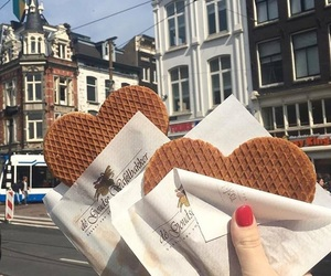 amsterdam, the netherlands, and stroopwafel image