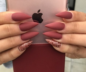 claws, glitter, and longnails image
