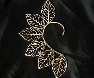 fairy, leaf, and earcuff image